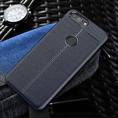 Silikon Hülle Handyhülle Gummi Schutzhülle Leder Tasche S01 für OnePlus 5T A5010 Blau