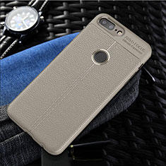 Silikon Hülle Handyhülle Gummi Schutzhülle Leder Tasche S01 für OnePlus 5T A5010 Grau