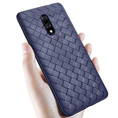 Silikon Hülle Handyhülle Gummi Schutzhülle Leder Tasche S01 für OnePlus 7 Blau