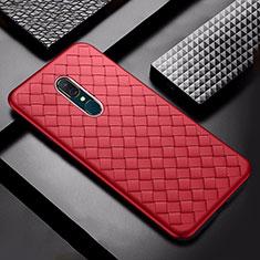 Silikon Hülle Handyhülle Gummi Schutzhülle Leder Tasche S01 für Oppo A9 Rot