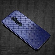 Silikon Hülle Handyhülle Gummi Schutzhülle Leder Tasche S01 für Oppo Reno 10X Zoom Blau