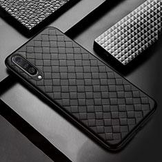 Silikon Hülle Handyhülle Gummi Schutzhülle Leder Tasche S01 für Samsung Galaxy A50 Schwarz