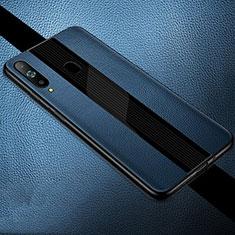 Silikon Hülle Handyhülle Gummi Schutzhülle Leder Tasche S01 für Samsung Galaxy A8s SM-G8870 Blau
