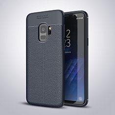 Silikon Hülle Handyhülle Gummi Schutzhülle Leder Tasche S01 für Samsung Galaxy S9 Blau