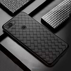 Silikon Hülle Handyhülle Gummi Schutzhülle Leder Tasche S01 für Xiaomi Mi 8 Lite Schwarz