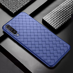 Silikon Hülle Handyhülle Gummi Schutzhülle Leder Tasche S01 für Xiaomi Mi A3 Blau