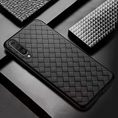 Silikon Hülle Handyhülle Gummi Schutzhülle Leder Tasche S01 für Xiaomi Mi A3 Schwarz