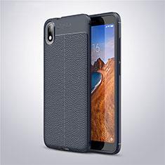 Silikon Hülle Handyhülle Gummi Schutzhülle Leder Tasche S01 für Xiaomi Redmi 7A Blau