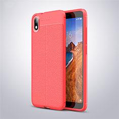 Silikon Hülle Handyhülle Gummi Schutzhülle Leder Tasche S01 für Xiaomi Redmi 7A Rot