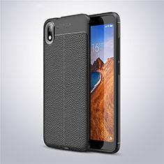 Silikon Hülle Handyhülle Gummi Schutzhülle Leder Tasche S01 für Xiaomi Redmi 7A Schwarz
