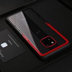 Silikon Hülle Handyhülle Gummi Schutzhülle Leder Tasche S02 für Huawei Mate 20 RS Rot