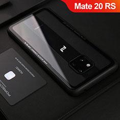 Silikon Hülle Handyhülle Gummi Schutzhülle Leder Tasche S02 für Huawei Mate 20 RS Schwarz