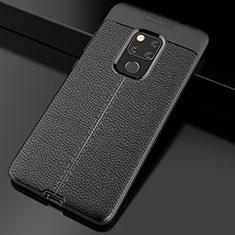 Silikon Hülle Handyhülle Gummi Schutzhülle Leder Tasche S02 für Huawei Mate 20 Schwarz