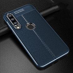 Silikon Hülle Handyhülle Gummi Schutzhülle Leder Tasche S02 für Huawei Nova 4e Blau