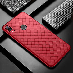 Silikon Hülle Handyhülle Gummi Schutzhülle Leder Tasche S02 für Huawei P Smart+ Plus Rot
