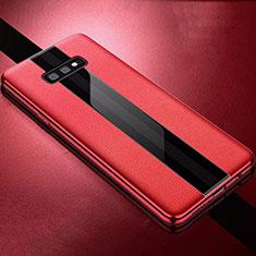 Silikon Hülle Handyhülle Gummi Schutzhülle Leder Tasche S02 für Samsung Galaxy S10e Rot