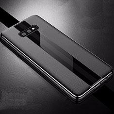 Silikon Hülle Handyhülle Gummi Schutzhülle Leder Tasche S02 für Samsung Galaxy S10e Schwarz