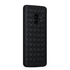 Silikon Hülle Handyhülle Gummi Schutzhülle Leder Tasche S02 für Samsung Galaxy S9 Schwarz