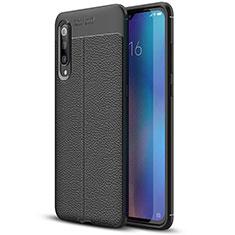 Silikon Hülle Handyhülle Gummi Schutzhülle Leder Tasche S02 für Xiaomi Mi 9 Pro 5G Schwarz