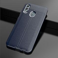 Silikon Hülle Handyhülle Gummi Schutzhülle Leder Tasche S03 für Huawei Honor 10 Lite Blau