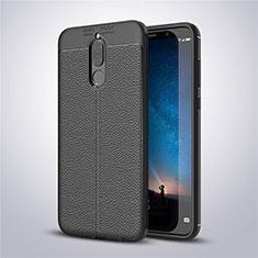 Silikon Hülle Handyhülle Gummi Schutzhülle Leder Tasche S03 für Huawei Mate 10 Lite Schwarz