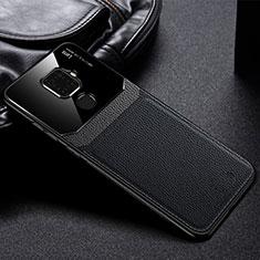 Silikon Hülle Handyhülle Gummi Schutzhülle Leder Tasche S03 für Huawei Mate 30 Lite Schwarz