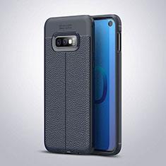 Silikon Hülle Handyhülle Gummi Schutzhülle Leder Tasche S03 für Samsung Galaxy S10e Blau