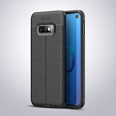 Silikon Hülle Handyhülle Gummi Schutzhülle Leder Tasche S03 für Samsung Galaxy S10e Schwarz