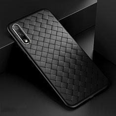 Silikon Hülle Handyhülle Gummi Schutzhülle Leder Tasche S04 für Huawei Honor 9X Schwarz