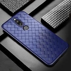 Silikon Hülle Handyhülle Gummi Schutzhülle Leder Tasche S04 für Huawei Mate 10 Lite Blau