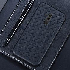 Silikon Hülle Handyhülle Gummi Schutzhülle Leder Tasche S04 für Huawei Mate 20 Lite Schwarz