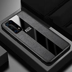 Silikon Hülle Handyhülle Gummi Schutzhülle Leder Tasche S04 für Huawei P40 Pro+ Plus Schwarz