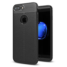 Silikon Hülle Handyhülle Gummi Schutzhülle Leder Tasche S05 für Apple iPhone 8 Plus Schwarz