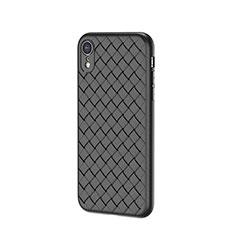 Silikon Hülle Handyhülle Gummi Schutzhülle Leder Tasche S05 für Apple iPhone XR Schwarz