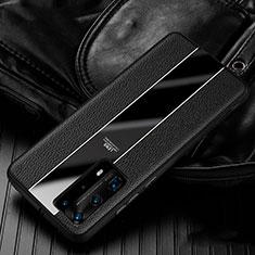 Silikon Hülle Handyhülle Gummi Schutzhülle Leder Tasche S05 für Huawei P40 Pro+ Plus Schwarz