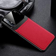 Silikon Hülle Handyhülle Gummi Schutzhülle Leder Tasche S05 für Oppo Find X2 Neo Rot