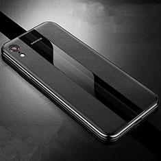 Silikon Hülle Handyhülle Gummi Schutzhülle Leder Tasche S06 für Apple iPhone XR Schwarz