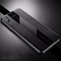 Silikon Hülle Handyhülle Gummi Schutzhülle Leder Tasche S06 für Apple iPhone Xs Schwarz