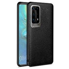 Silikon Hülle Handyhülle Gummi Schutzhülle Leder Tasche S08 für Huawei P40 Pro+ Plus Schwarz