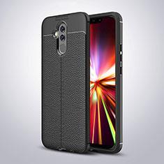 Silikon Hülle Handyhülle Gummi Schutzhülle Leder W03 für Huawei Mate 20 Lite Schwarz
