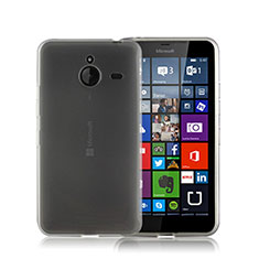 Silikon Hülle Handyhülle Gummi Schutzhülle Matt für Microsoft Lumia 640 XL Lte Grau
