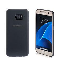 Silikon Hülle Handyhülle Gummi Schutzhülle Matt für Samsung Galaxy S7 G930F G930FD Schwarz