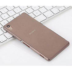 Silikon Hülle Handyhülle Gummi Schutzhülle Matt für Sony Xperia Z3 Grau