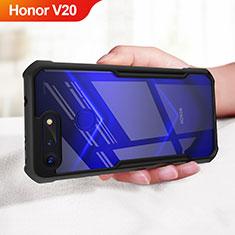 Silikon Hülle Handyhülle Gummi Schutzhülle Spiegel für Huawei Honor V20 Schwarz