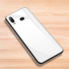Silikon Hülle Handyhülle Gummi Schutzhülle Spiegel für Samsung Galaxy A6s Weiß