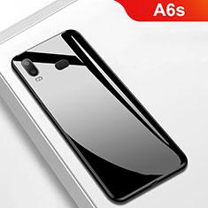 Silikon Hülle Handyhülle Gummi Schutzhülle Spiegel M01 für Samsung Galaxy A6s Schwarz