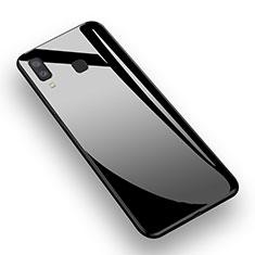 Silikon Hülle Handyhülle Gummi Schutzhülle Spiegel M01 für Samsung Galaxy A8 Star Schwarz
