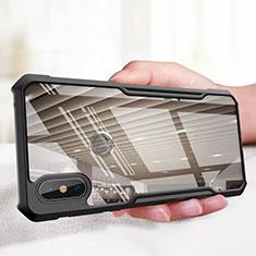 Silikon Hülle Handyhülle Gummi Schutzhülle Spiegel M01 für Xiaomi Mi Mix 3 Schwarz