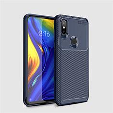 Silikon Hülle Handyhülle Gummi Schutzhülle Tasche Köper A01 für Xiaomi Mi Mix 3 Blau