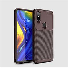 Silikon Hülle Handyhülle Gummi Schutzhülle Tasche Köper A01 für Xiaomi Mi Mix 3 Braun